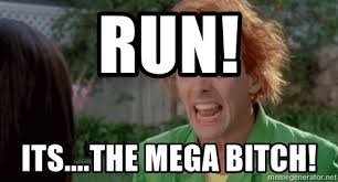 Drop Dead Fred Meme - run its the mega bitch drop dead fred meme generator