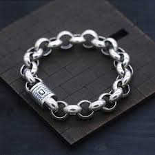 bracelet silver chain images Men 39 s biker bracelet sterling silver chain bracelets jpg