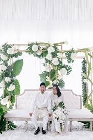 wedding backdrop design malaysia adham and tati s wedding with sparkly confetti piñatas malaysia