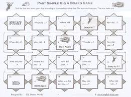 write the pattern of past tense and give exle questions in the simple past tense board game sweet level 1 writing