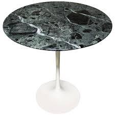 eero saarinen tulip side table for knoll with u0027verdi alpi u0027 green