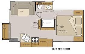 everest rv floor plans host rv mammoth 11 5 floor plan beautiful everest rv floor plans