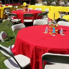 Round Table Rentals by Party Rentals In Pasadena Chair Rentals Table Rentals
