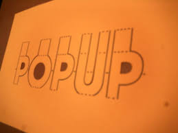 pop up 3d words and messages 7 steps with pictures