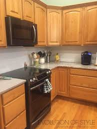 tips tricks for painting oak cabinets evolution of style customer kitchen makeover evolution of style