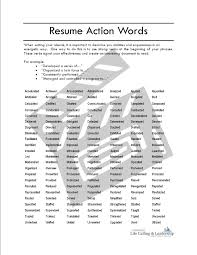 Good Verbs For Resumes Fascinating Good Action Words For Resume On Resume Strong Action