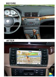 install bmw e46 dvd player with gps navigation can bus bluetooth