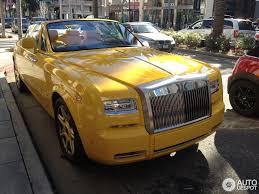yellow rolls royce rolls royce phantom drophead coupé series ii 28 december 2014