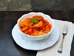 slow cooker potato and haricot bean casserole vegan crockpot
