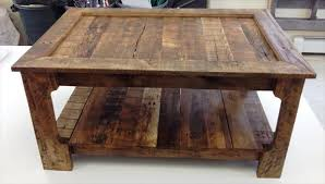 Coffee Table From Pallet Rustic Coffee Table From Shipping Pallets 101 Pallets Pallet
