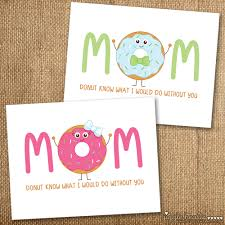 mothers day card free printable donut themed mother u0027s day cards