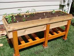 Planters interesting elevated planter box plans Waist High