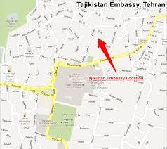 Tehran Map Getting Central Asian Visas In Tehran