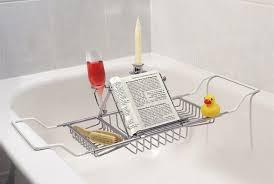 umbra aquala bathtub caddy the art of bathing flush bathroom essentials