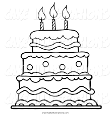 91 birthday cake without candles coloring page best