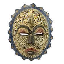 bead mask sun mask wood aluminum recycled glass bead