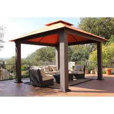garden u0026 outdoor hardtop gazebo gazebos at lowes lowes gazebo