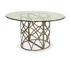 dining room modern dining table idea using round glass tabletop