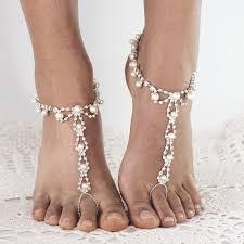 pearl barefoot sandals wedding wedding stuff pinterest