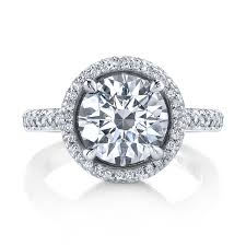 michael b engagement rings michael b 18k white gold halo ring michael b