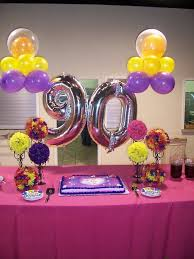 Decorate Table For Birthday Party Best 25 90th Birthday Decorations Ideas On Pinterest 90
