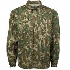 Mossy Oak Duck Blind Camo Clothing Men U0027s Hunting Shirts With Color Greenleaf