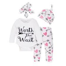 newborn clothes infant baby boys top romper hat 3pcs