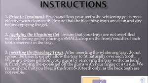post operative instructions after teeth whitening teeth