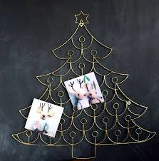 christmas tree card holder christmas lights decoration