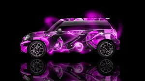 pink mini cooper mini cooper side abstract aerography car 2014 el tony