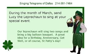 singing telegrams of dallas st s day special singing telegrams of dallas