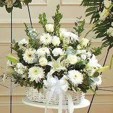 sympathy arrangement in basket flower delivery nyc florist
