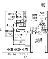 3 bedroom house plans with basement 1661 square foot ranch house plans ranch house