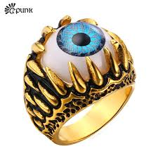 eye rings jewelry images Claw turkish eye ring metal jewelry 316l stainless steel party jpg