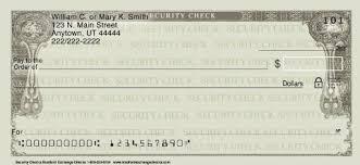 security checks personal checks