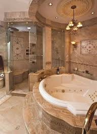tuscan bathroom design tuscan bathroom design with spa tub and chandelier inviting