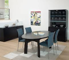 Black Oval Dining Room Table - modern oval dining tables