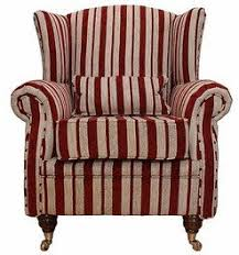 high back wing armchairs wing chair fireside high back armchair ruby stripe designer
