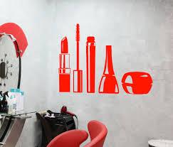 cosmetics pattern wall decal girls beauty salon interior wall