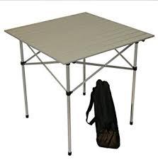 Tall Outdoor Table Amazon Com Table In A Bag Ta2727ga Tall Aluminum Portable Table