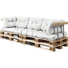 coussin pour canapé 2x coussin de siège 5x coussin de dossier pour canapé palette