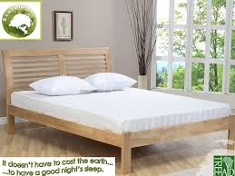 4ft Wooden Bed Frame Ecofurn Ridgeway Wooden Bed Frame 4ft Small Eco Friendly