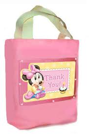Birthday Favor Bags by Minnie Mouse 1st Birthday Favor Bag Canvas Fabric Cloth Tote