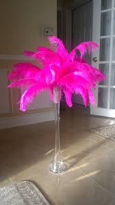 Where To Buy Ostrich Feathers For Centerpieces by 45 Pink Ostrich Feather Centerpiece For Sweet 16 Birhday