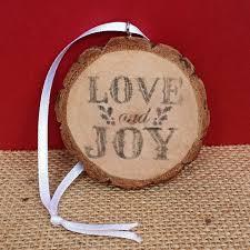diy rustic wood slice ornaments