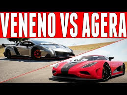 lamborghini veneno vs bugatti veyron race forza horizon 2 versus lamborghini veneno vs koenigsegg agera