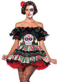 day of the dead zombie halloween mask leg avenue 85293 day of the dead doll costume women u0027s leg