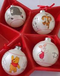 world of disney decoupage ornament set 7 pc pooh tinkerbell