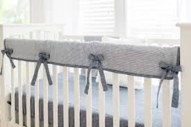 striped linen crib bedding boy baby bedding navy crib bedding