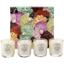 4 votive maison jardin candle set assorted voluspa